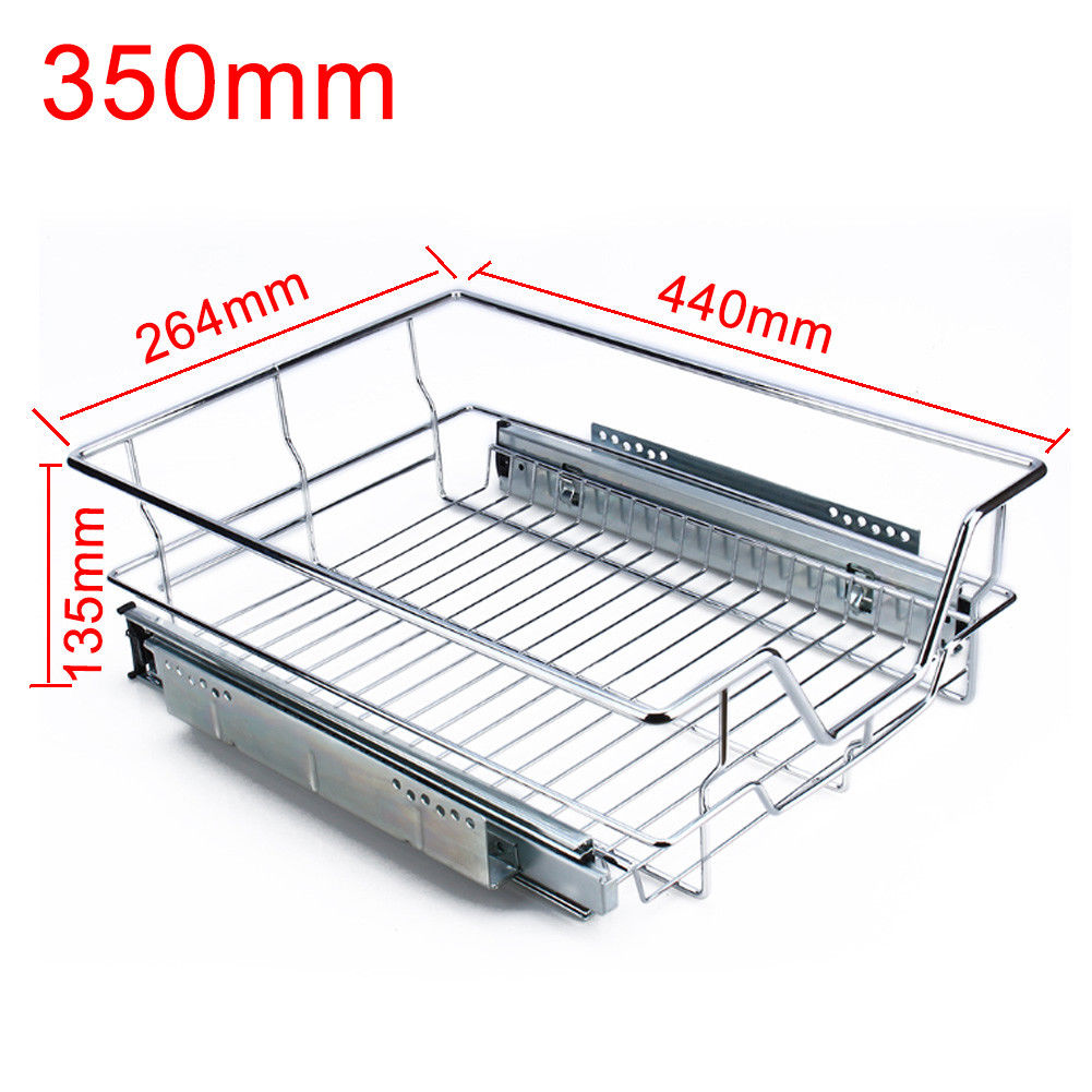 Pull Out Kitchen Wire Baskets Slide Out Storage Cupboard