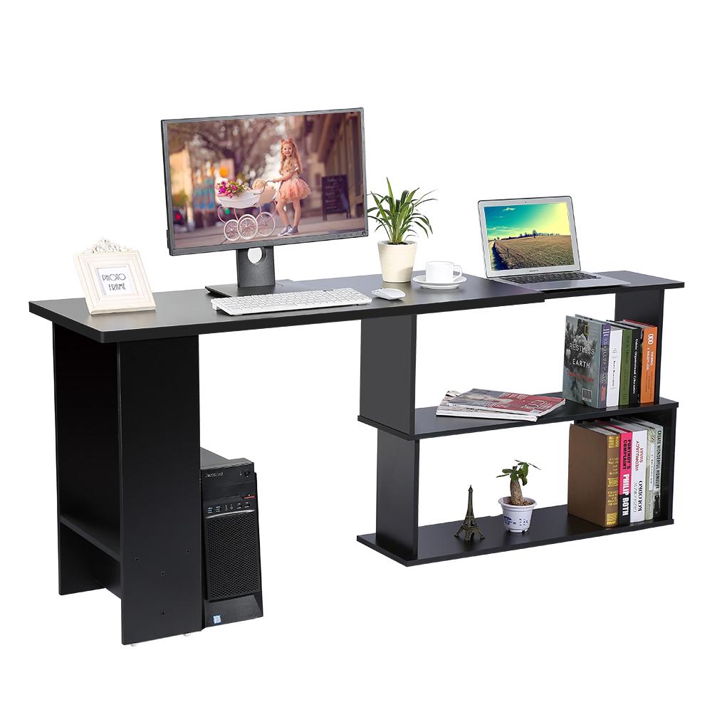 Scrivania angolare tavolo per computer pc ufficio angolo for Scaffale da scrivania