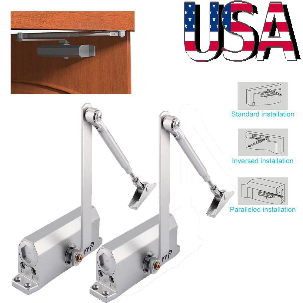 Adjustable Overhead Door Closer Automatic Fireproof for Door Weight 45-65kg USA