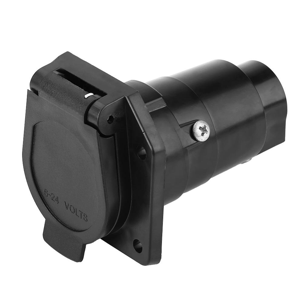 7 Way Round Boat Rv 7 Pin Trailer Light Plug Wiring
