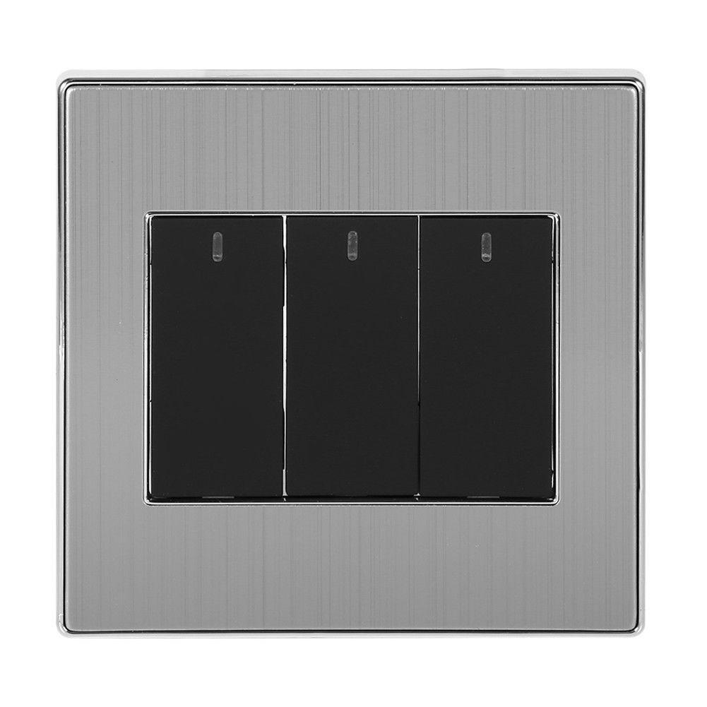 250V 10A 1/2 Way 1/2/3/4 Gang LED Indicator Wall Switch Light Switch ...