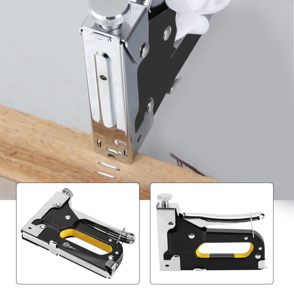 Heavy Duty Carbon Steel Nail Staple Gun Tacker Upholstery Stapler ...