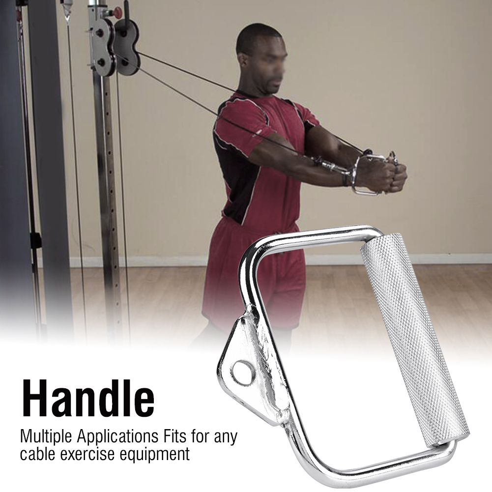 D Shaped Handle Grip Machine Cable Attachments Home Gym Strength Exercise US
