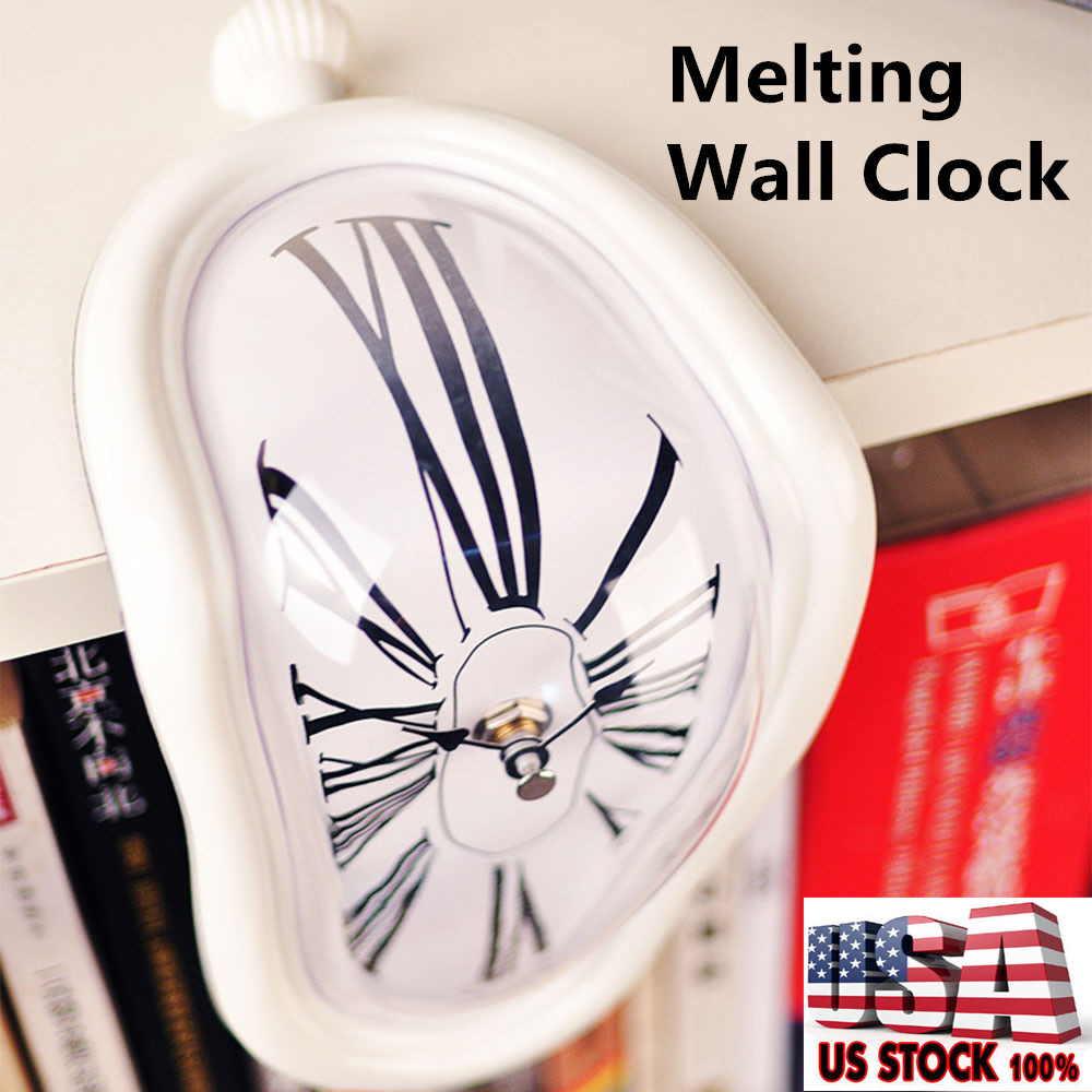 Novel Surreal Melting Clock Art Home Decoration Ornament Large Wall