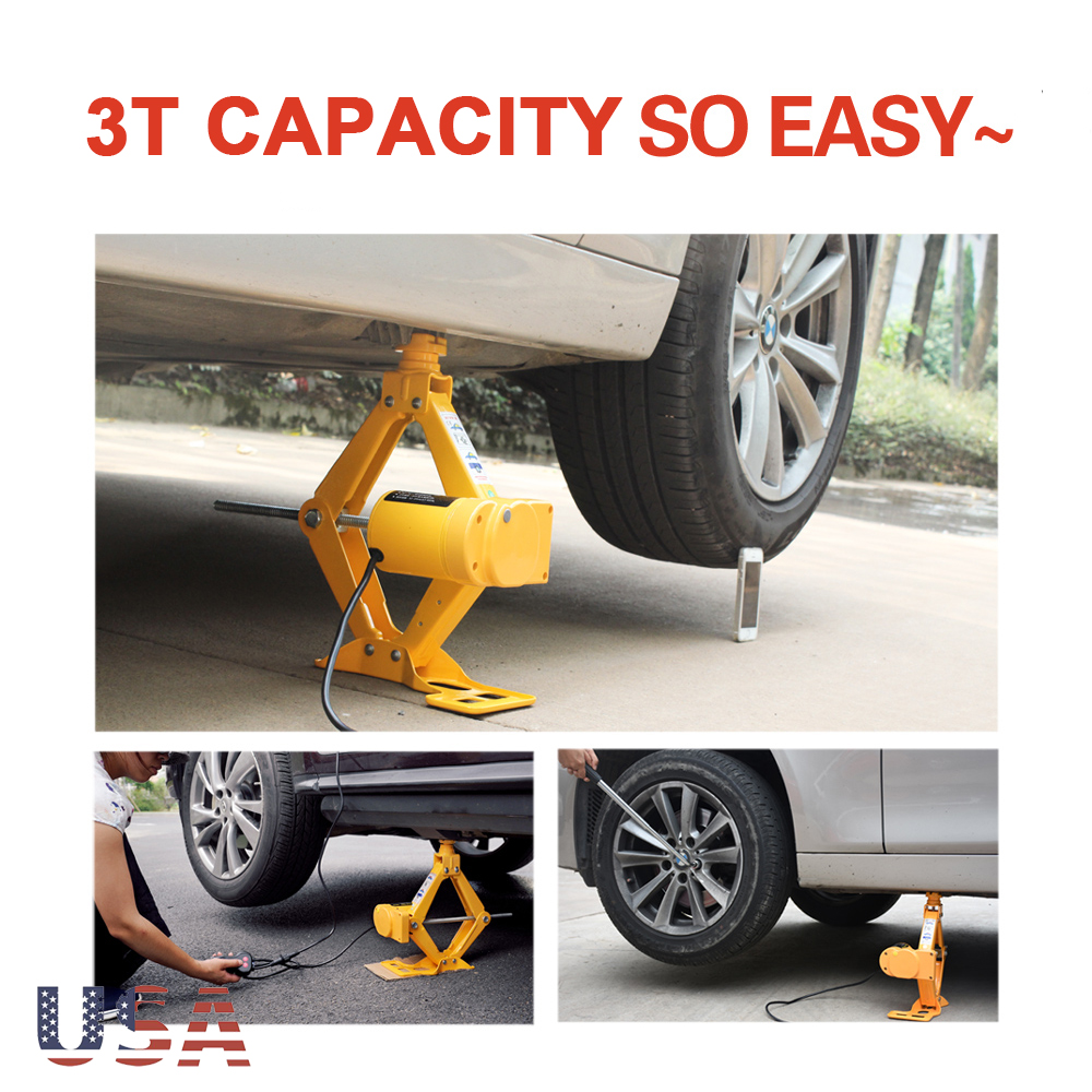 Details about Electric Car Jack 3 Ton DC 12v All-in-one Automatic SUV Lift  Scissor Repair Tool