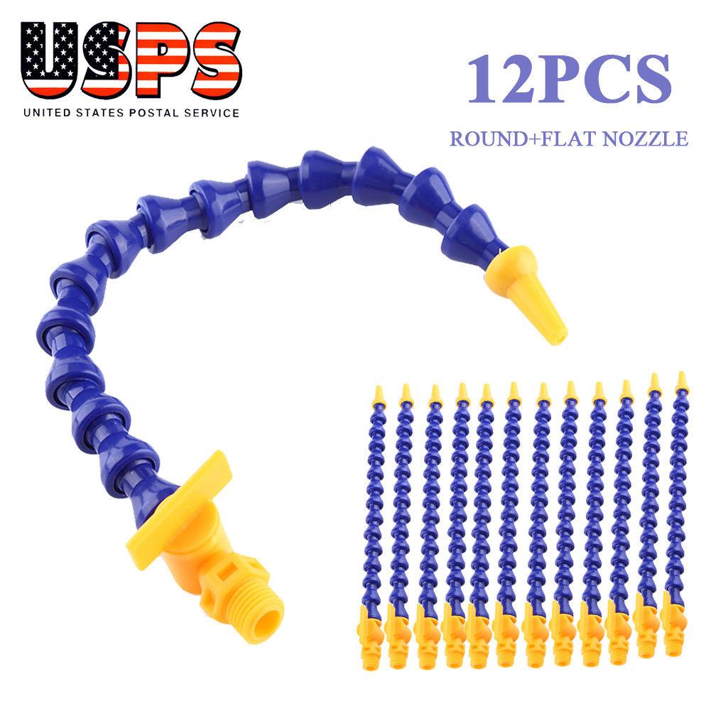 30 cm Plastic Flexible Water Oil Coolant Pipe Hose CNC Machine Thread External