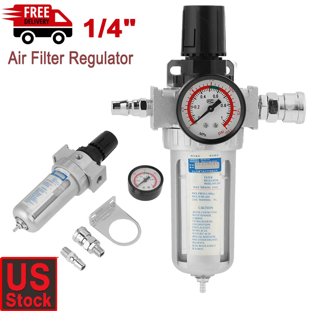 1//4/'/' Aluminum Air Compressor Filter Regulator Gauge Trap Oil Water Separator