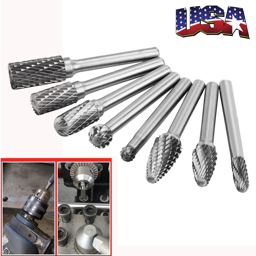 "1//8/"" shank 3mm Carbide Burr Ball Shape Rotary Die grinder head 1//4/"" 6mm"
