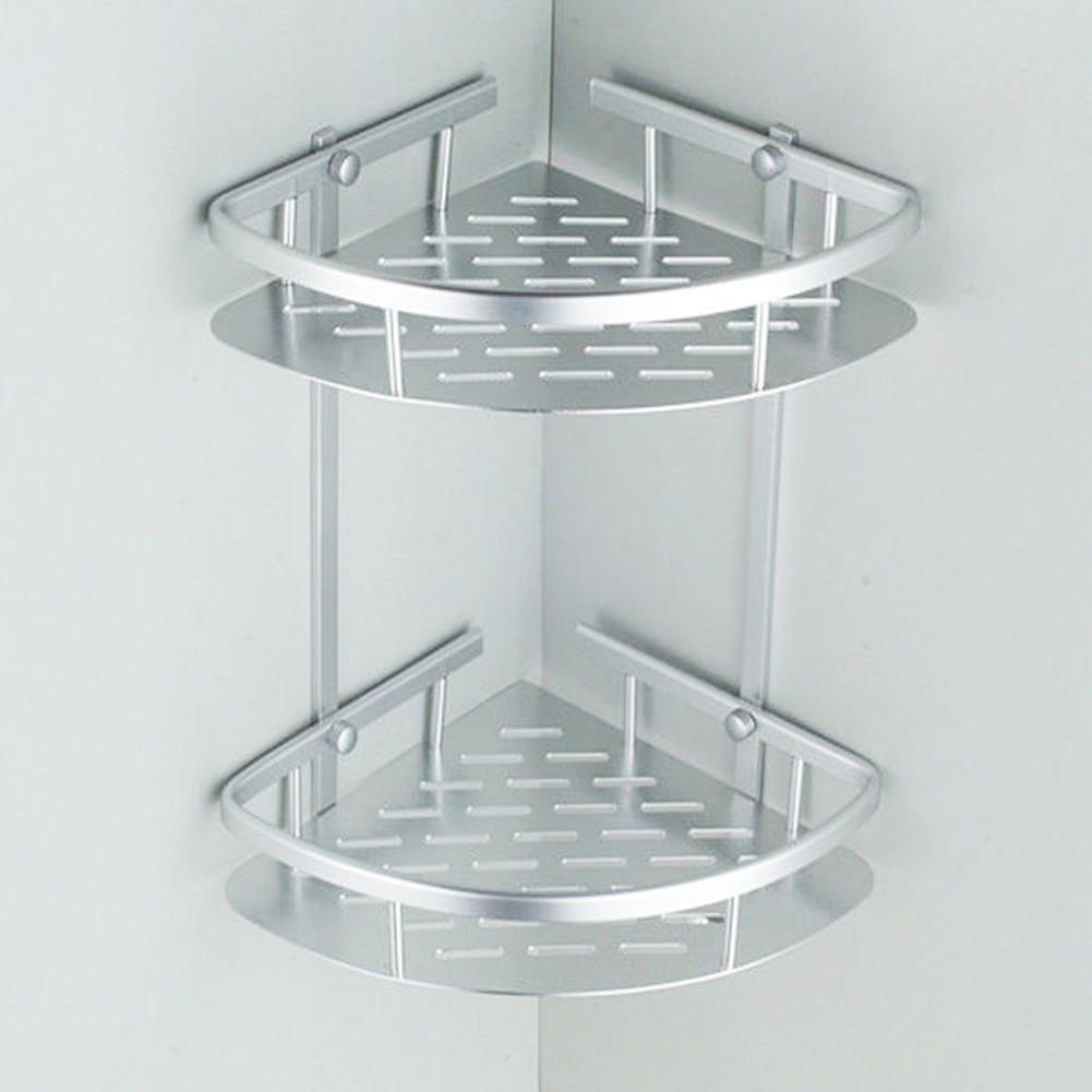Bathroom Shower Caddy Shelf Corner Bath Wall Mount Rack Storage ...