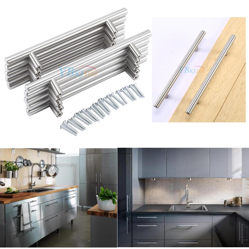 20-80Pcs Modern Stainless Steel Kitchen Cabinet T Pulls