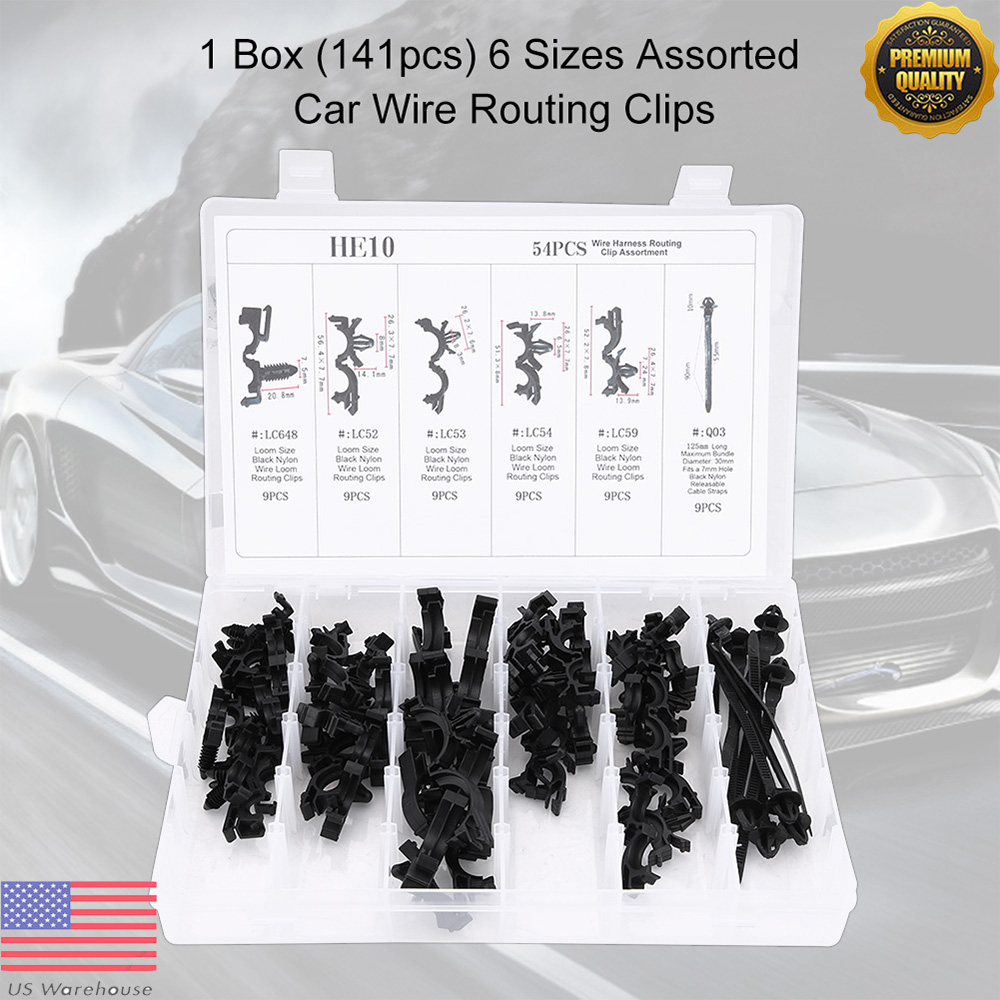 Automotive Wiring Harness Conduit Electrical Diagrams Cable Wire Clips 54 X Car Loom Routing Assortment Equipment