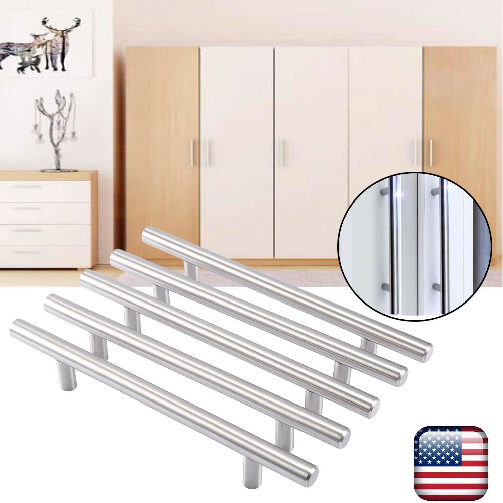20-80Pcs Modern Stainless Steel Kitchen Cabinet T Pulls