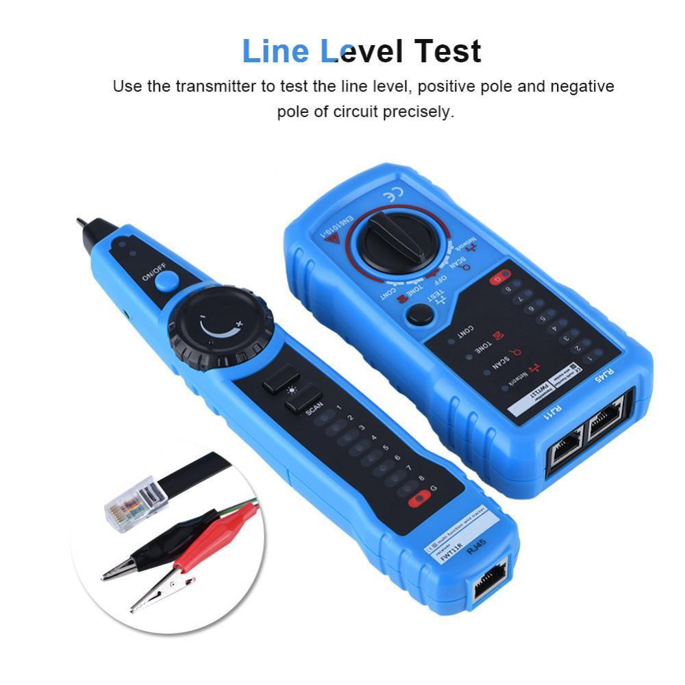 RJ11 Wire Tone Generator Probe Tracer Network Tracker Line Finder Cable Teste TM
