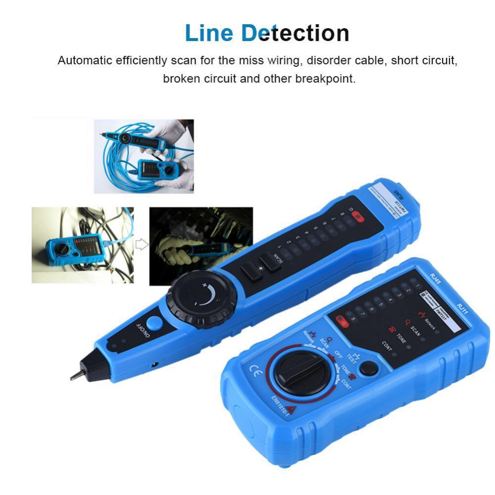 Telephone Network Cable Wire Line Probe Tracker Tester Tone Generator Circuit Finder Set
