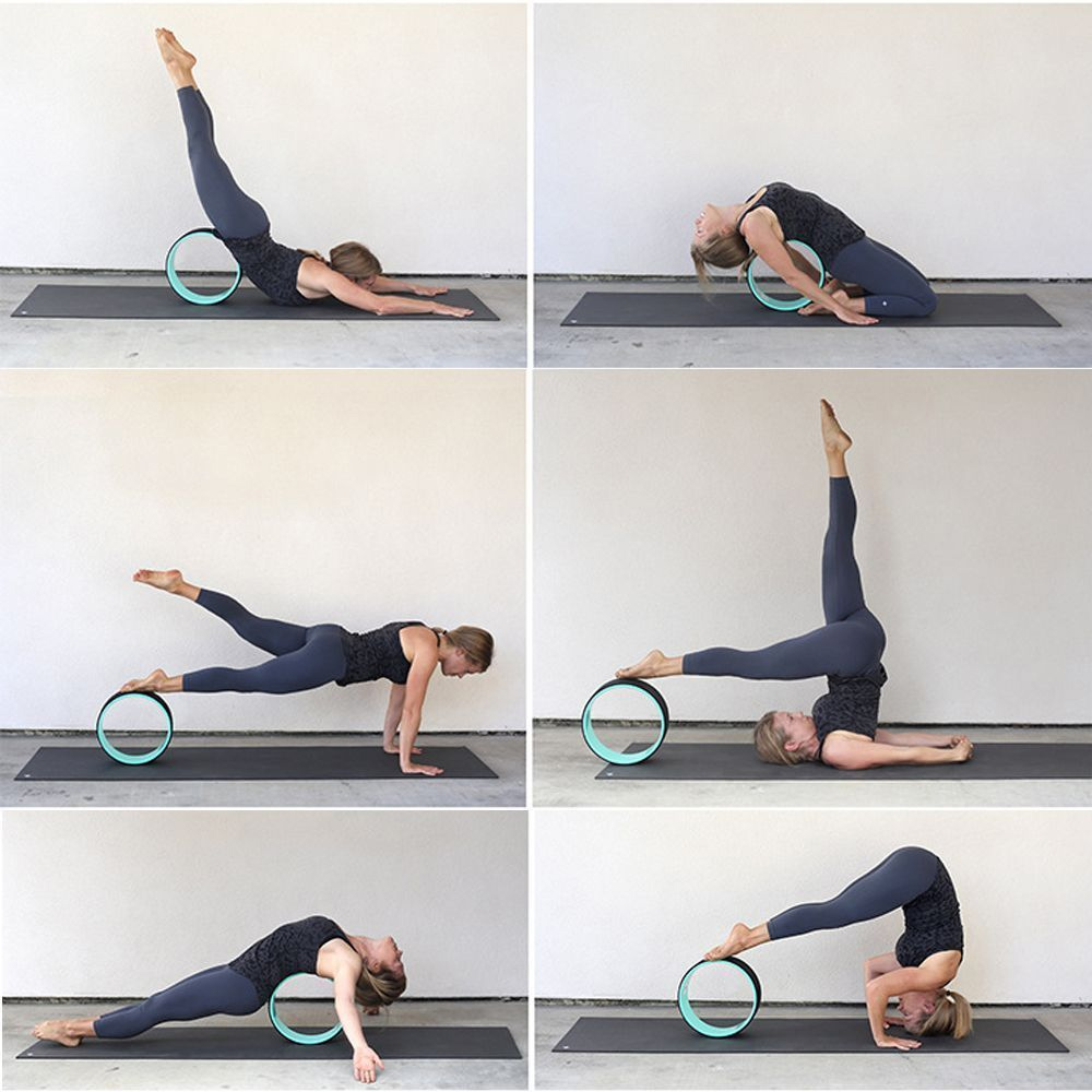 Fitness Yoga Wheel Prop Circle Wheel For Poses Backbends Improves Balance Us 663862871098 Ebay