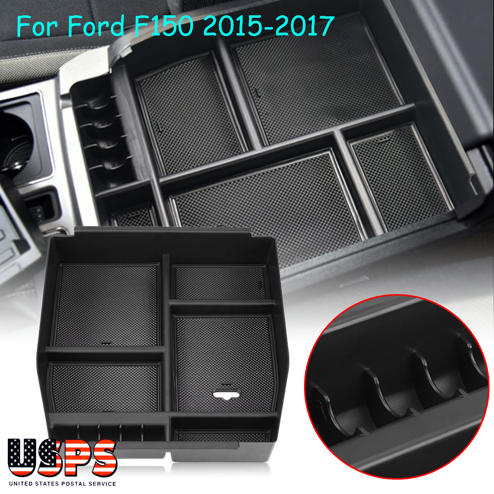Center Console Organizer Car Tray Storage Box Fit For Ford