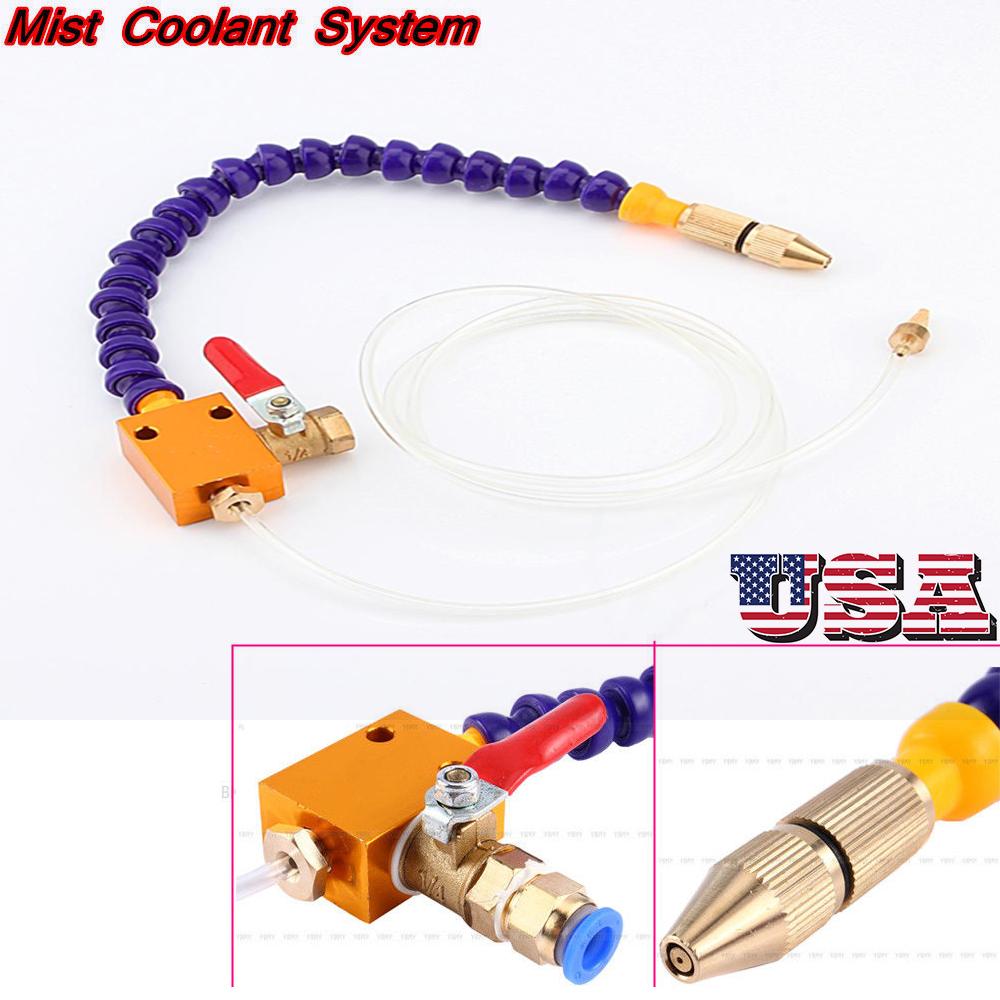 US Metal Mist Coolant Lubrication Spray System Kit for CNC Lathe Milling Machine