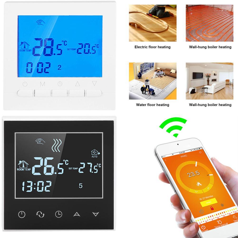 Wifi Lcd Wireless Smart Programmable Thermostat Underfloor