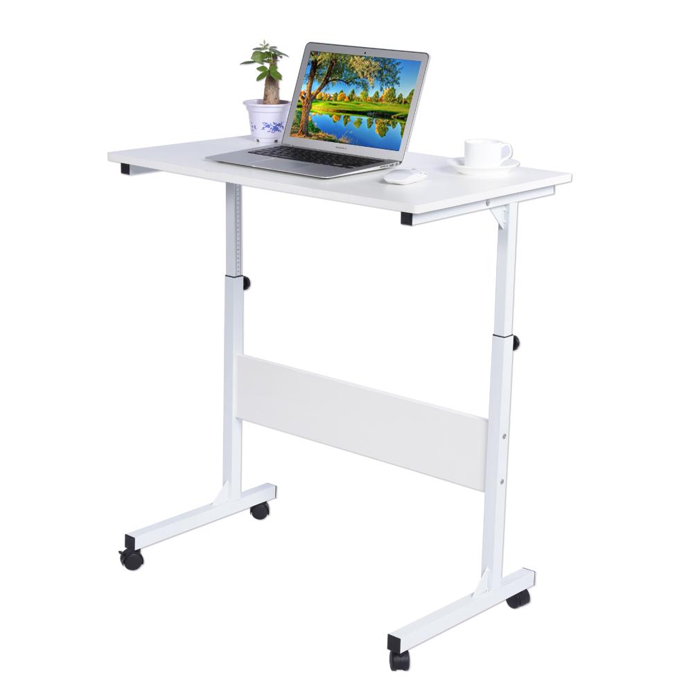 computertisch schreibtisch laptoptisch notebooktisch mit rollen wei de lm 02 ebay. Black Bedroom Furniture Sets. Home Design Ideas