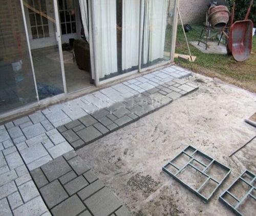 Driveway Paving Brick Patio Concrete Slabs Path Garden