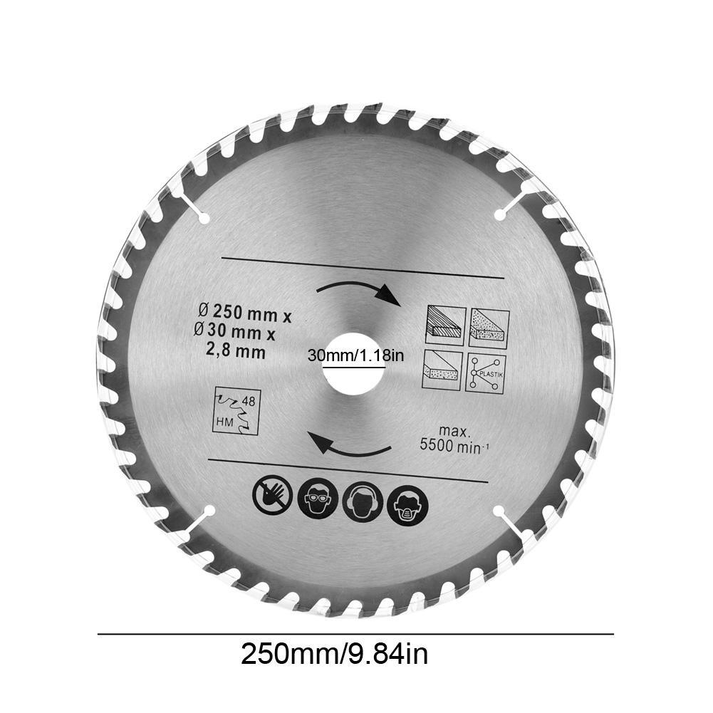 2x Kreissägeblatt  250x30mm TCT HM Hartmetall Kreis Säge Blatt Z= 48 60 Sägen EY