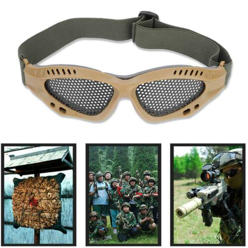 Outdoor-Protective-Steel-Metal-Mesh-Airsoft-Half-Face-Mask-Tactical-Goggles