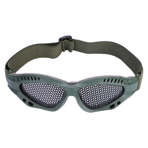 Outdoor-Protective-Steel-Metal-Mesh-Airsoft-Half-Face-Mask-Tactical-Goggles thumbnail 3