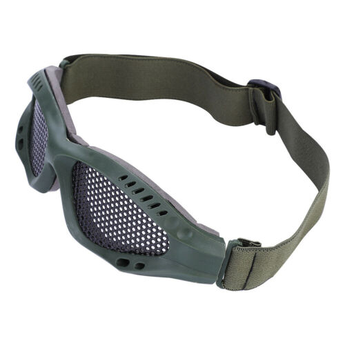 Outdoor-Protective-Steel-Metal-Mesh-Airsoft-Half-Face-Mask-Tactical-Goggles thumbnail 4