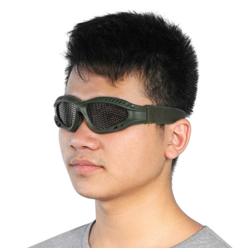 Outdoor-Protective-Steel-Metal-Mesh-Airsoft-Half-Face-Mask-Tactical-Goggles thumbnail 5