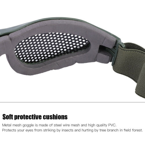 Outdoor-Protective-Steel-Metal-Mesh-Airsoft-Half-Face-Mask-Tactical-Goggles thumbnail 9