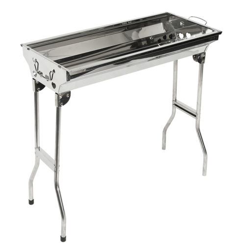 Outdoor barbecue pits stainless steel charcoal grill