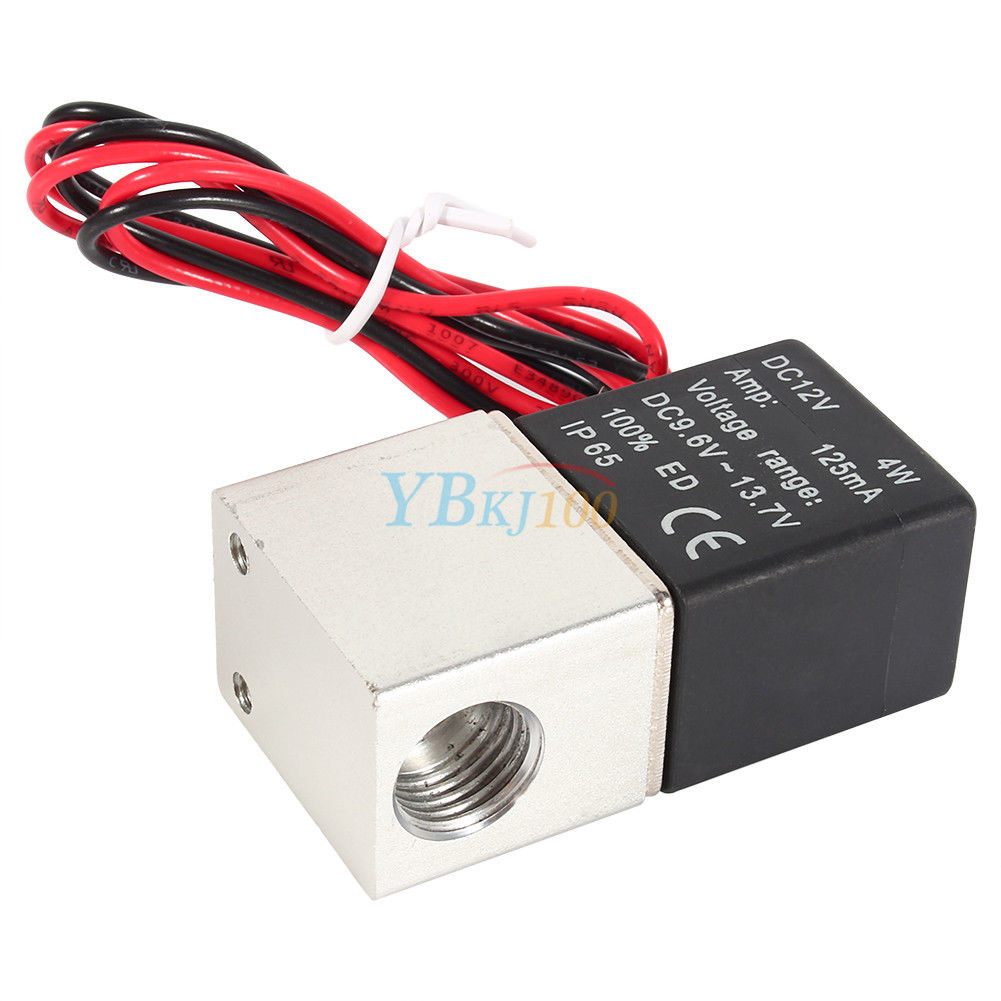 12v Dc 1 4 2 Way Normally Closed Pneumatic Electric Solenoid Air Switch Valve