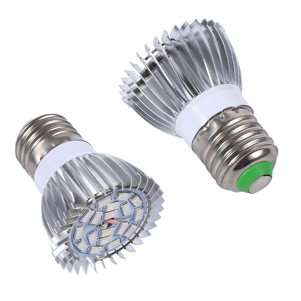 18w E27 Base Led Grow Light Bulb Full Spectrum Lamp Water