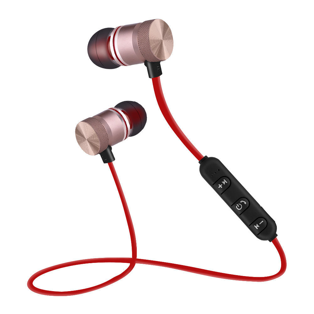 Magnetic-Wireless-Bluetooth4-1-Stereo-Earphone-Headset-In-Ear-Earbud-Headphone-C thumbnail 14