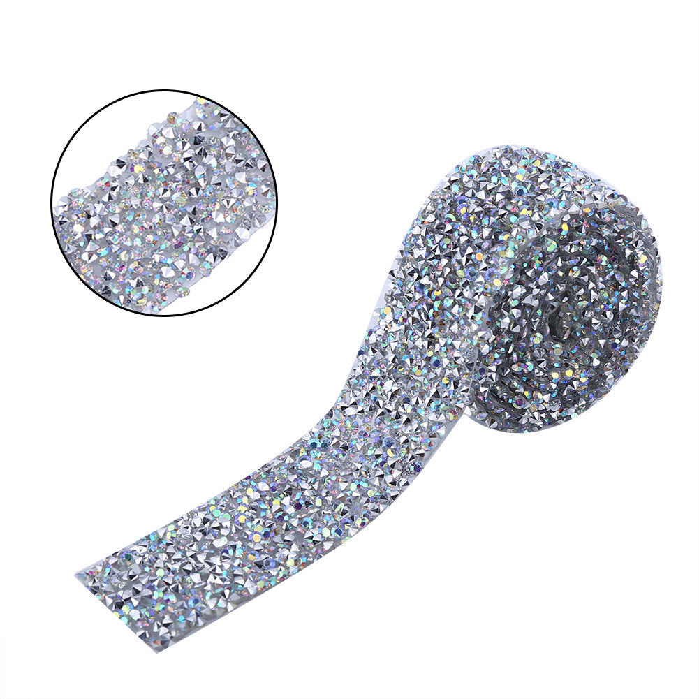 1-Yard-Sparkling-Diamond-Mesh-Wrap-Roll-Crystal-Rhinestone-Banding-Wedding-Decor thumbnail 21