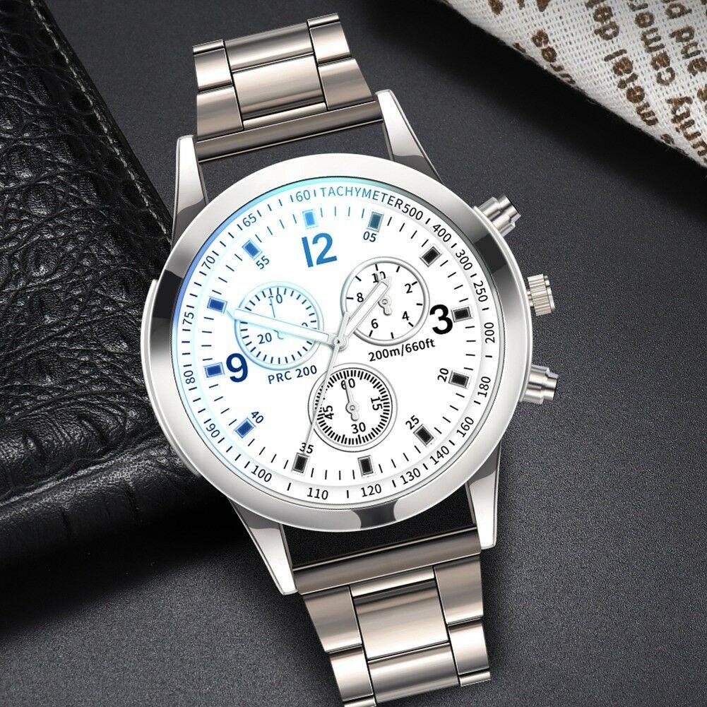 Fashion-Men-Stainless-Steel-Sport-Watch-Quartz-Analog-Luxury-Business-Wristwatch thumbnail 14