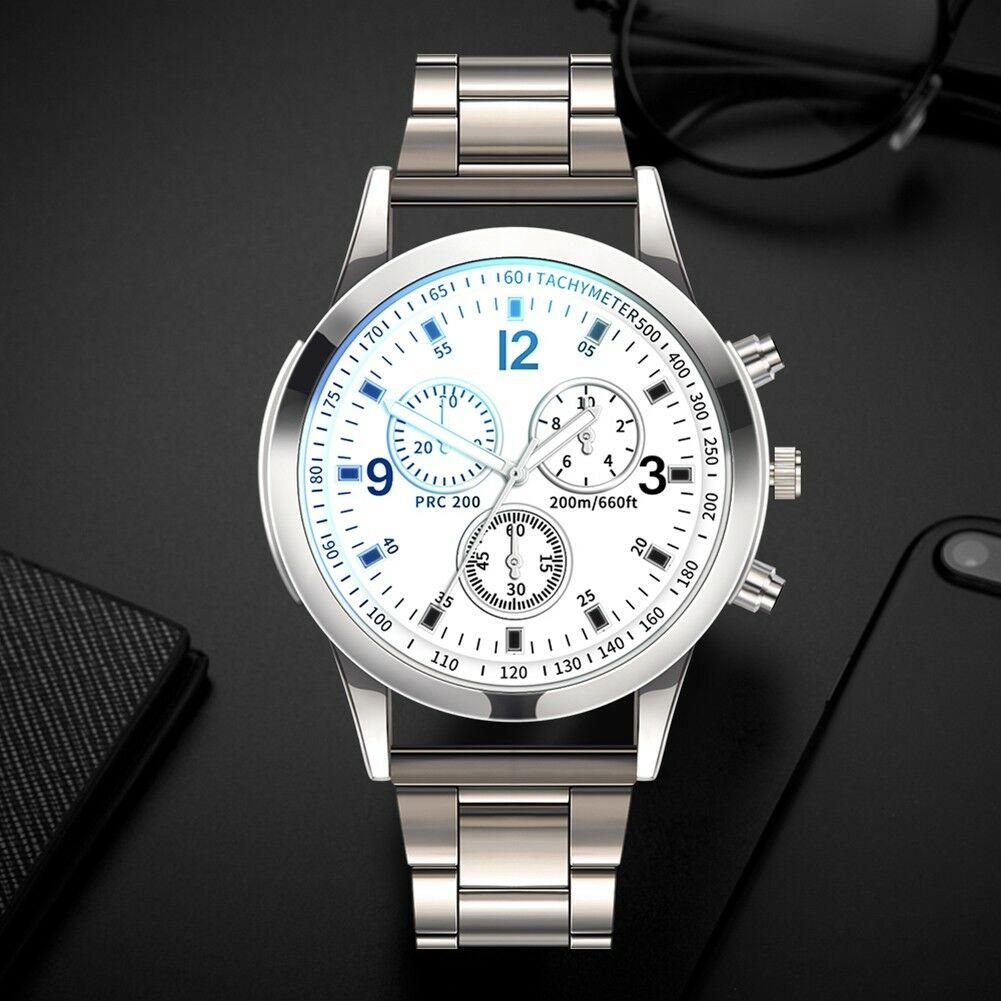 Fashion-Men-Stainless-Steel-Sport-Watch-Quartz-Analog-Luxury-Business-Wristwatch thumbnail 15