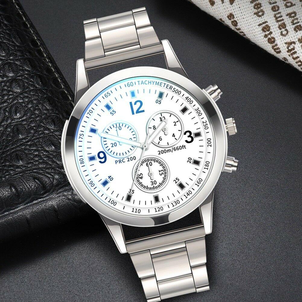 Fashion-Men-Stainless-Steel-Sport-Watch-Quartz-Analog-Luxury-Business-Wristwatch thumbnail 17