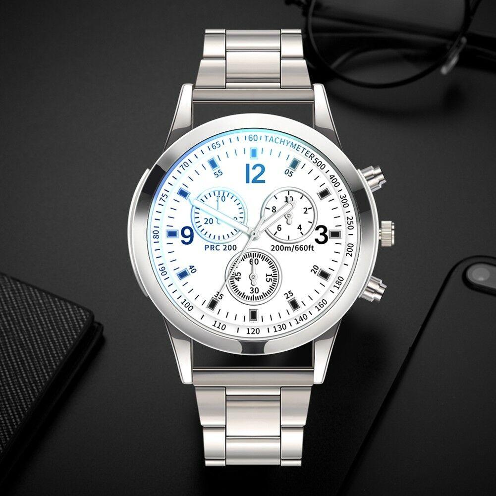 Fashion-Men-Stainless-Steel-Sport-Watch-Quartz-Analog-Luxury-Business-Wristwatch thumbnail 18