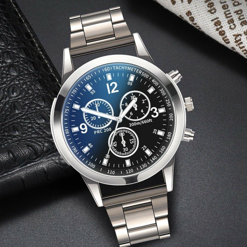Fashion-Men-Stainless-Steel-Sport-Watch-Quartz-Analog-Luxury-Business-Wristwatch thumbnail 20