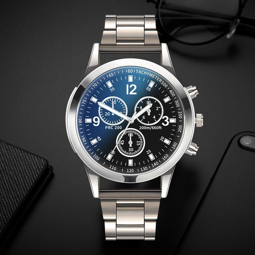 Fashion-Men-Stainless-Steel-Sport-Watch-Quartz-Analog-Luxury-Business-Wristwatch thumbnail 21