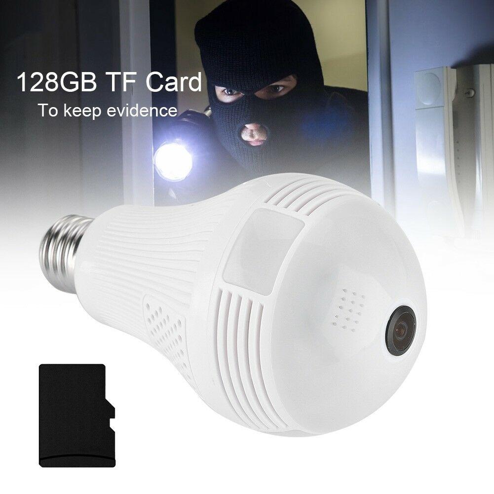 HD-1080P-Camara-Ip-De-Seguridad-Inalambrica-Oculta-Camara-De-Infrarrojos-Bombilla-panoramicas-de-360 miniatura 16
