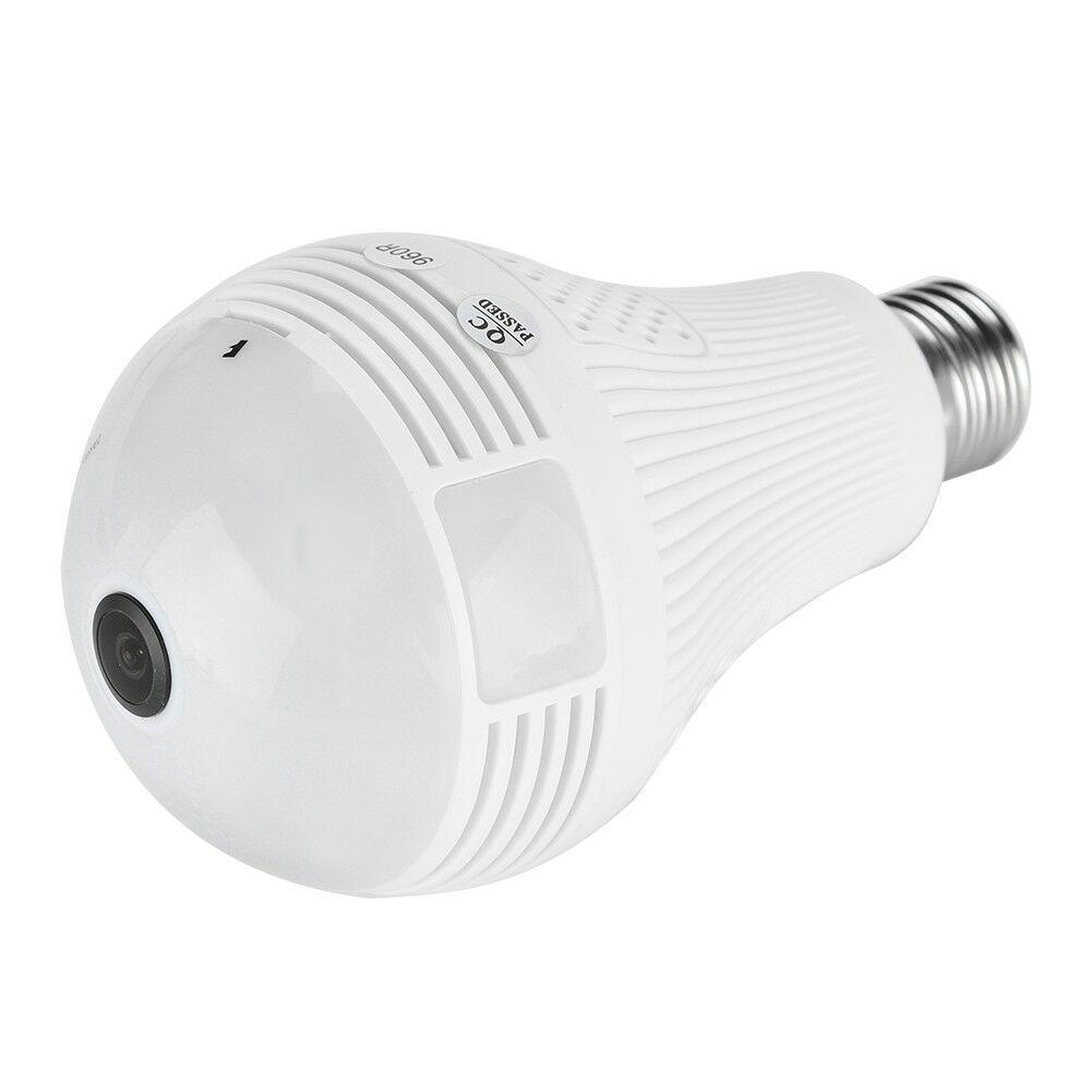 HD-1080P-Camara-Ip-De-Seguridad-Inalambrica-Oculta-Camara-De-Infrarrojos-Bombilla-panoramicas-de-360 miniatura 17