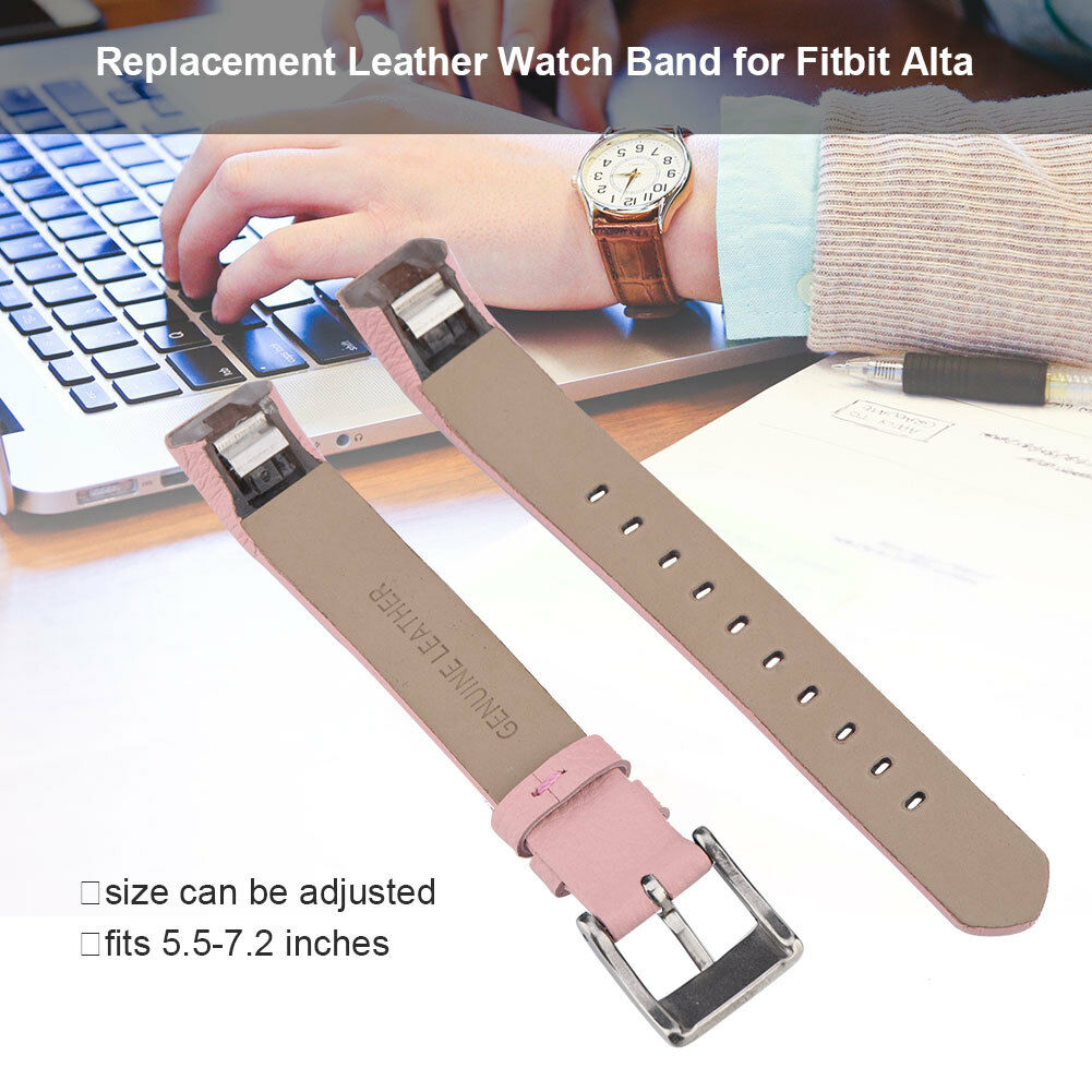 Replacement-Genuine-Leather-Belt-Wrist-Watch-Band-Strap-Bracelet-For-Fitbit-Alta thumbnail 13