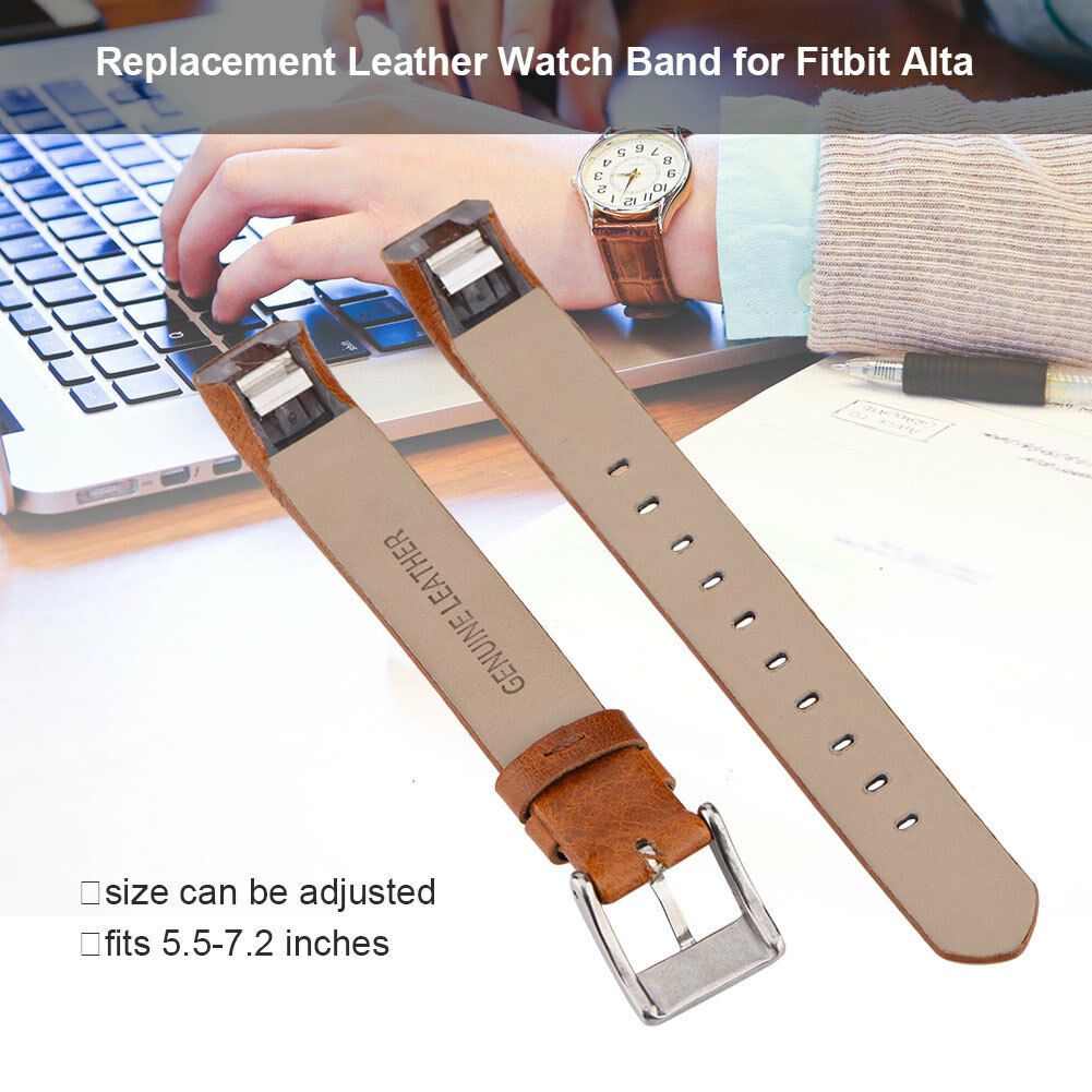 Replacement-Genuine-Leather-Belt-Wrist-Watch-Band-Strap-Bracelet-For-Fitbit-Alta thumbnail 31