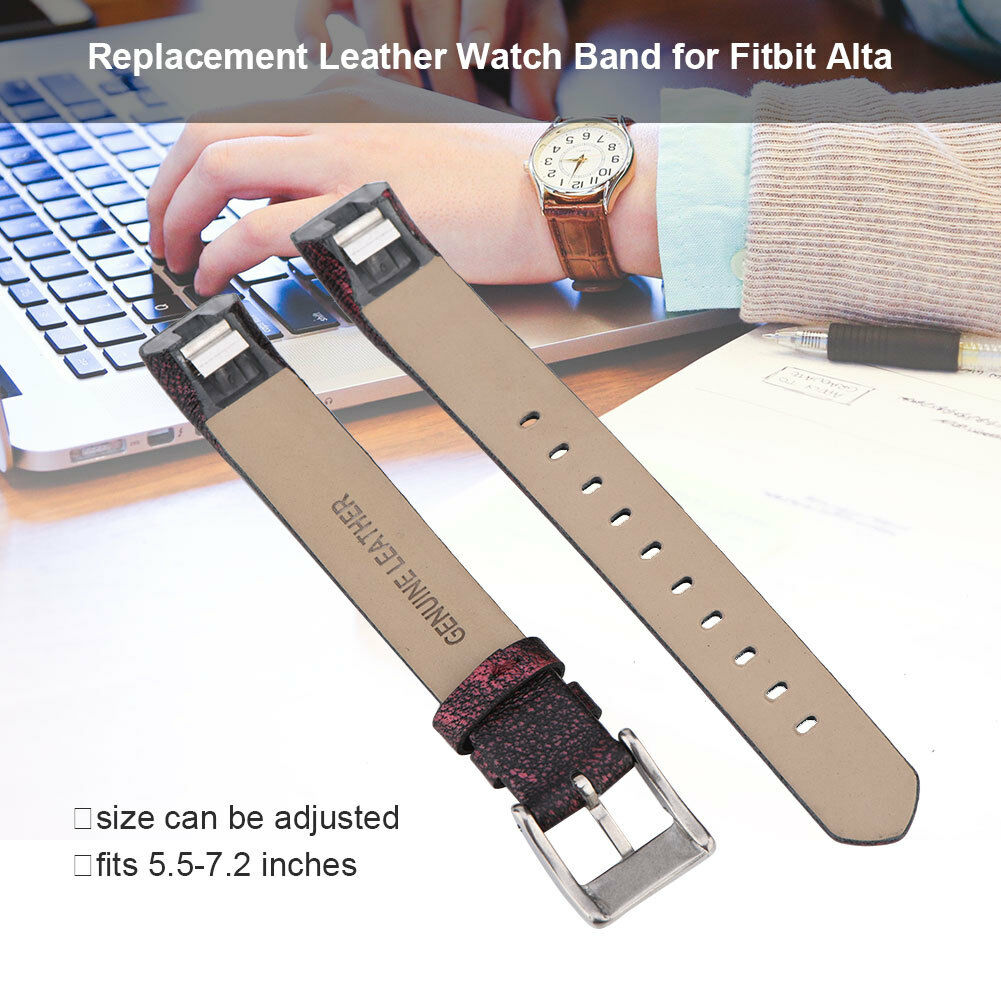 Replacement-Genuine-Leather-Belt-Wrist-Watch-Band-Strap-Bracelet-For-Fitbit-Alta thumbnail 34