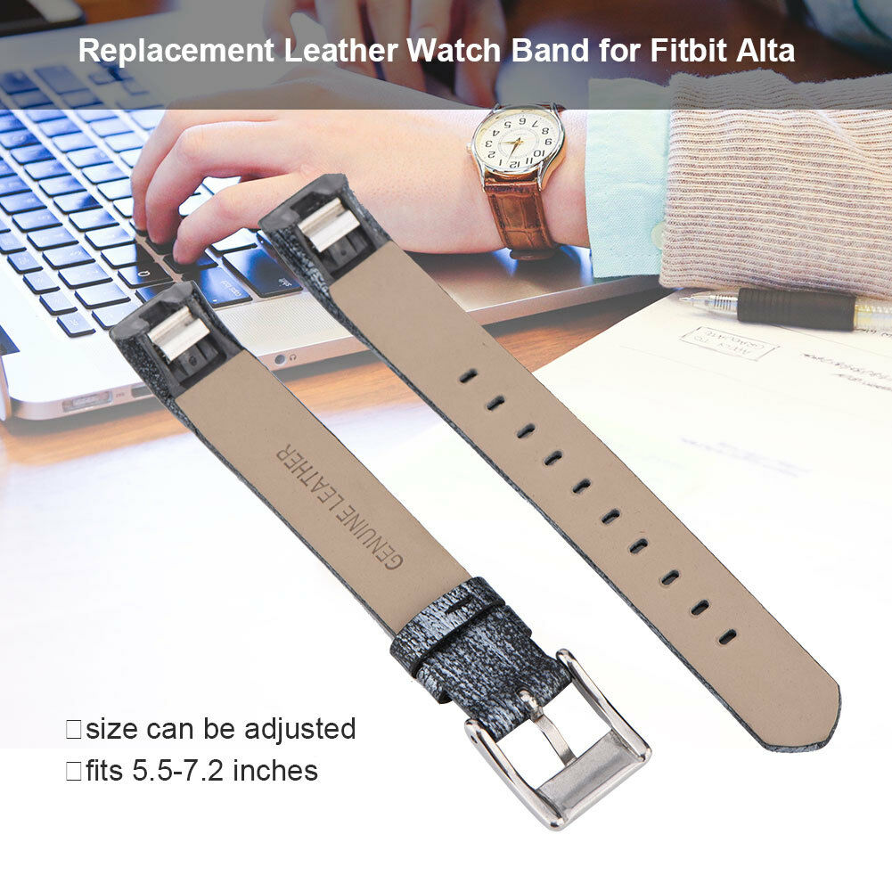 Replacement-Genuine-Leather-Belt-Wrist-Watch-Band-Strap-Bracelet-For-Fitbit-Alta thumbnail 37