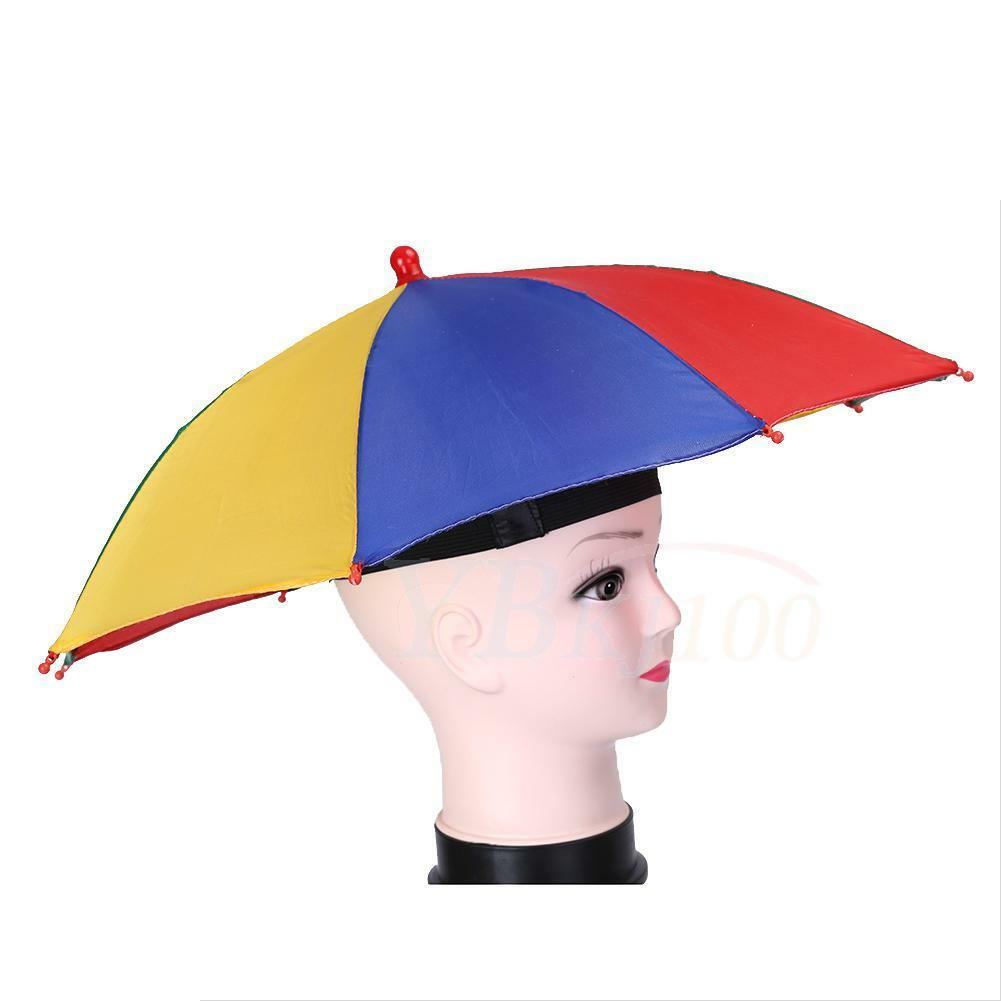 7172bb1c17884 Foldable Sun Rain Umbrella Hat Outdoor Golf Fishing Camping Headwear ...