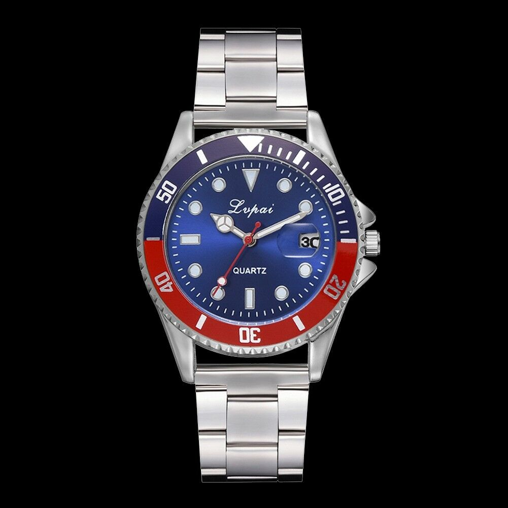 Fashion-Luxury-Mens-Crystal-Dial-Watch-Stainless-Steel-Analog-Quartz-Wrist-Watch thumbnail 26