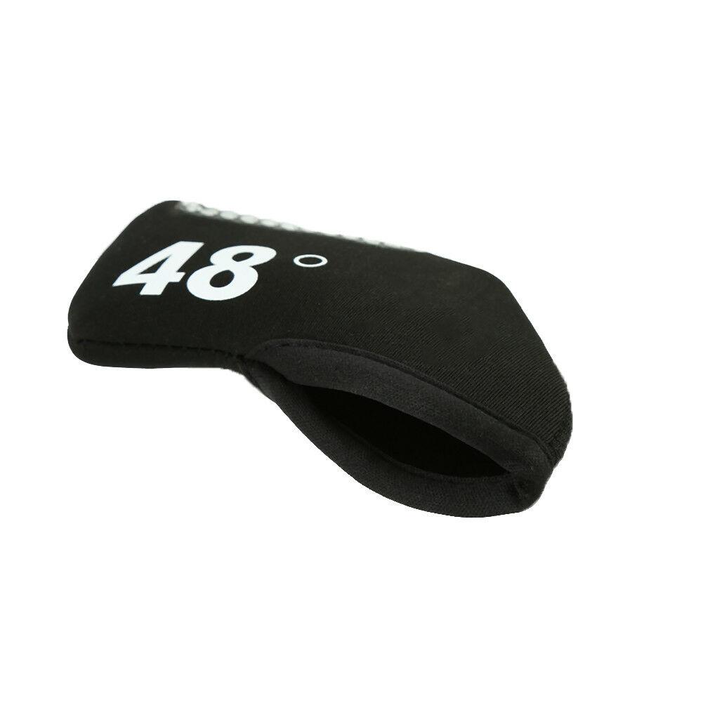 Black-Neoprene-Set-Golf-Wedge-Iron-Club-Headcovers-Head-Covers-Protectors-DD thumbnail 9